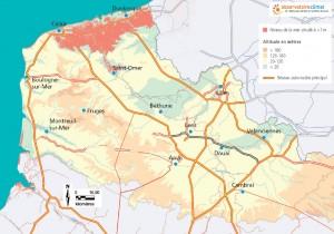 Montée des eaux de 1 mètre en Nord-Pas-de-Calais @ Observatoire climat